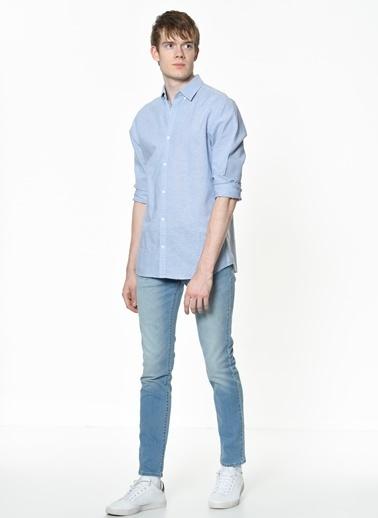 Jack & Jones Uzun Kollu Gömlek Mavi